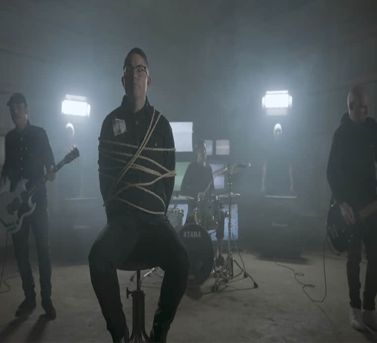 """Still from Hawthorne Heights music video for """"Constant Dread"""""""