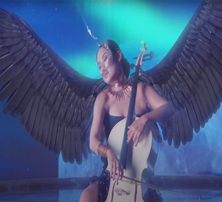 """Still from Tina Guo's music video for """"Moonlight Sonata"""""""
