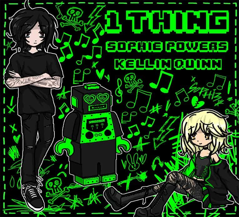 """Single artwork for Sophie Powers' single """"1 Thing"""" featuring Kellin Quinn"""