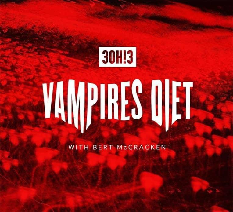 """Single artwork for 3OH!3's new single """"Vampire's Diet"""""""