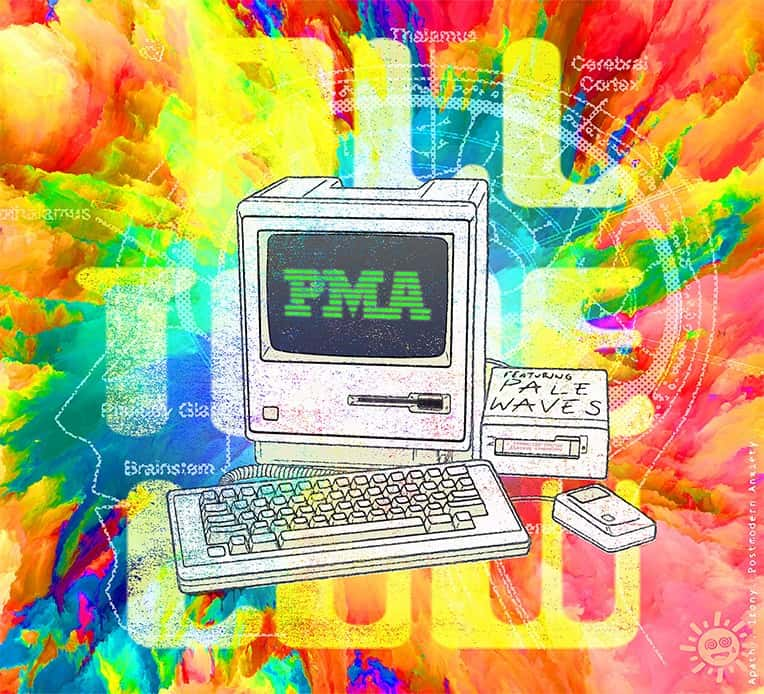 """Artwork for All Time Low's latest single """"PMA"""" featuring Pale Waves."""