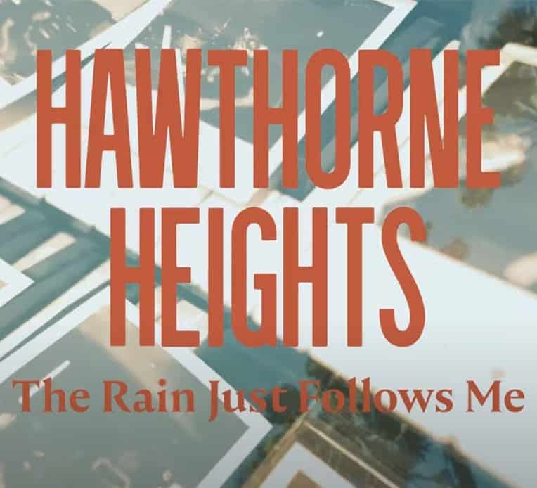 """Artwork from Hawthorne Heights' Infographic for their new single """"The Rain Just Follows Me"""""""