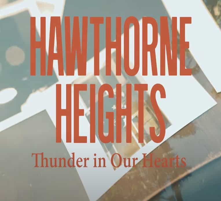 Artwork for Hawthorne Heights' new single Thunder In Our Hearts