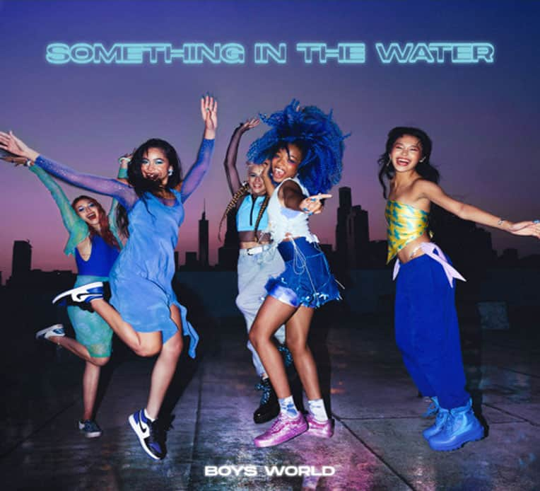"""Single artwork for Boys World's latest single, """"Something In The Water."""""""