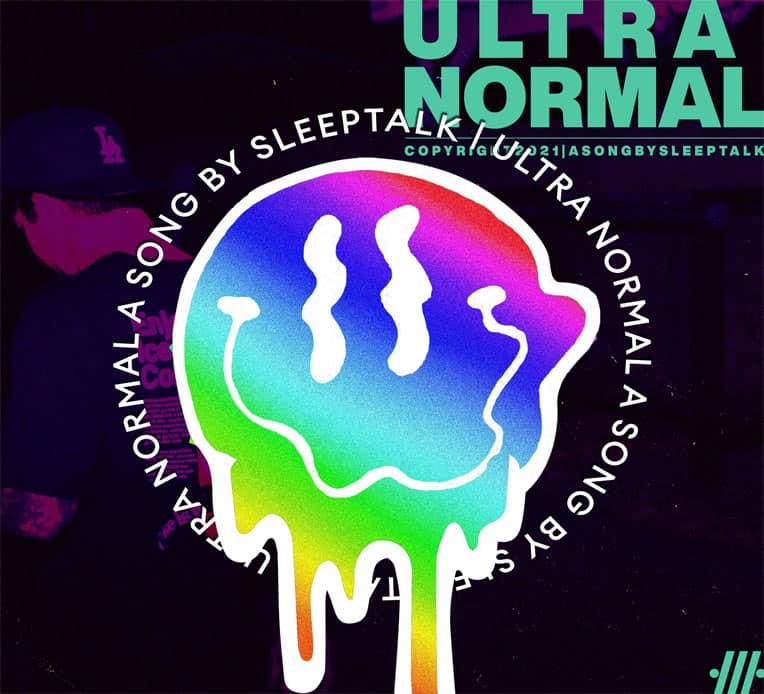 "Single artwork for Sleeptalk's latest single, ""Ultra Normal."""